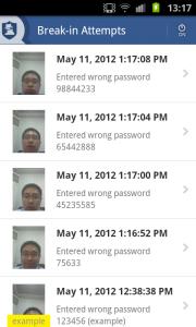 NQ Mobile Vault App BreakIn Attempts
