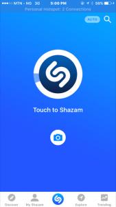 Shazam App Home