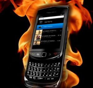 Blackberry Phones Getting Too Hot