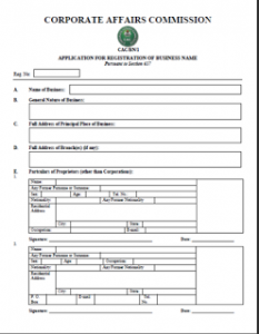cac form