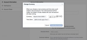 Change Facebook Ad Account Currency To Naira