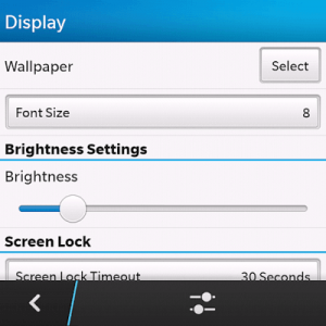 blackberry 10 screen brightness