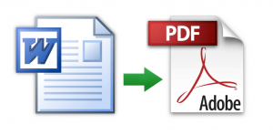 Word to PDF conversion