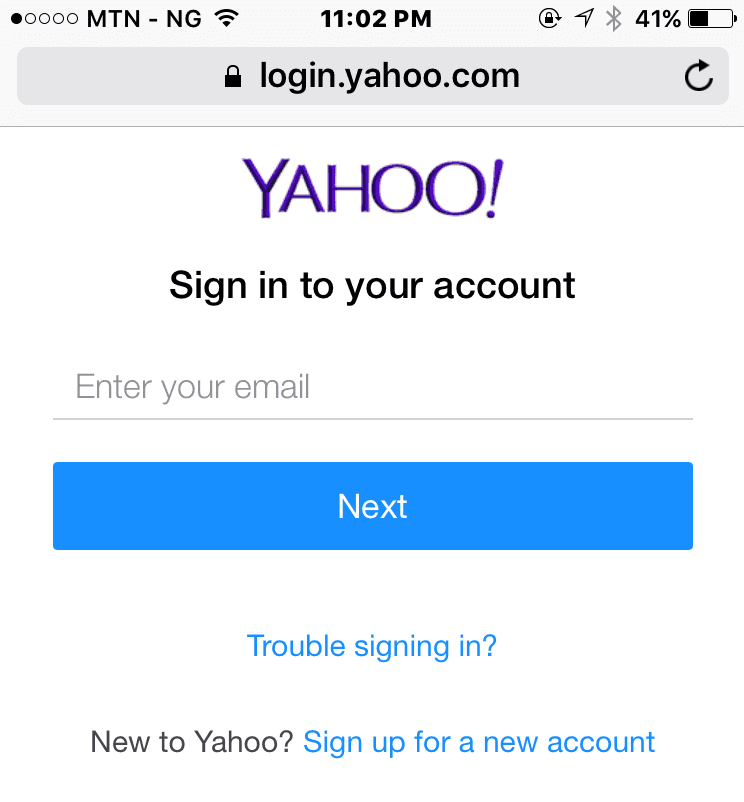 Unable To Log Into YahooMail Account On Mobile