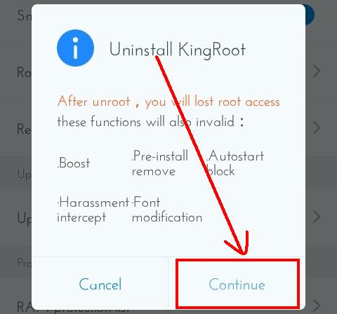 Unroot Android Phone Using Kingroot App