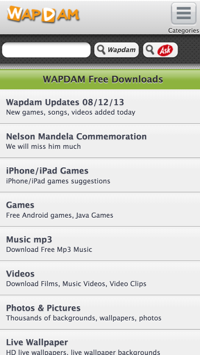 Wapdam : Download MP3 Music, Videos, Movies, Themes for Phones